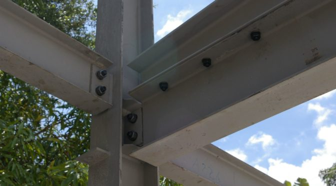 Are there several steel structure component connection?