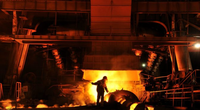What are the different manufacturing processes in the production of steel?